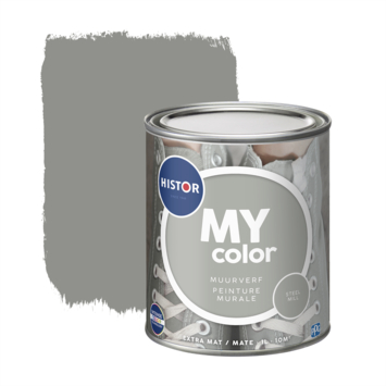 Histor MY Color muurverf extra mat steel mill 1 liter