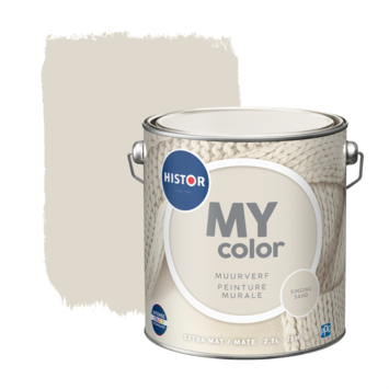 Histor MY Color muurverf extra mat singing sand 2,5 liter