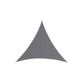 Schaduwdoek in polyester driehoekig 3,6 m antraciet