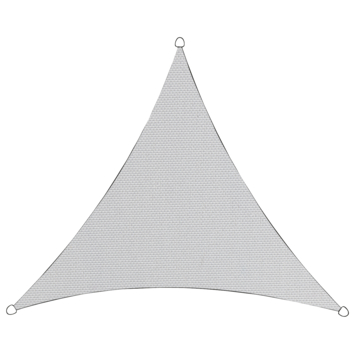 Schaduwdoek in polyester driehoekig 3,6 m wit