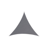 Voile d'ombrage polyester triangulaire 5 m anthracite