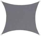 Voile d'ombrage imperméable carré 3,6 m anthracite