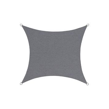 Schaduwdoek in polyester vierkant 5 m antraciet