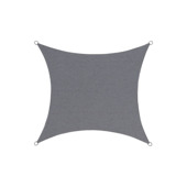 Voile d'ombrage polyester carré 5 m anthracite