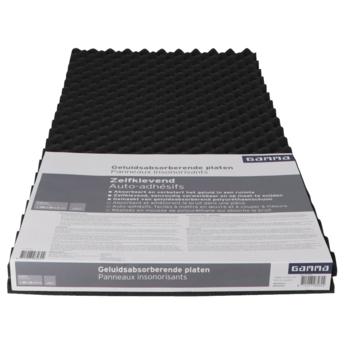 GAMMA geluidabsorberende plaat zelfklevend zwart 100x50x3cm 2 stuks