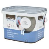 Colle en pâte Stone Design pour intérieur et extérieur 12kg gris