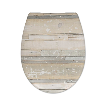 Cedo Pastel wood wc bril softclose duroplast