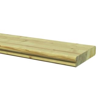 Afdekprofielplank grenen ± 2,8x13,5 cm, lengte ± 180 cm