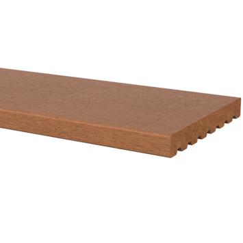 Vlonderplank Hardhout glad ± 1,8x14,5 cm, lengte ± 210 cm