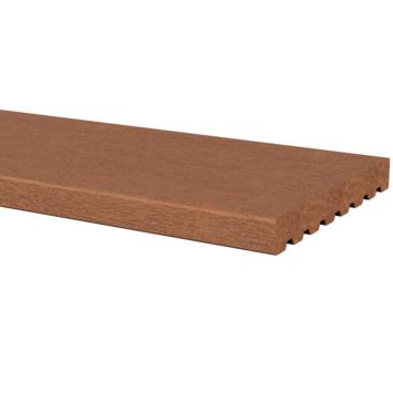 Vlonderplank Hardhout glad ± 1,8x14,5 cm, lengte ± 300 cm