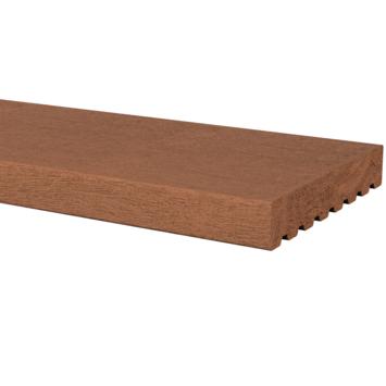 Vlonderplank Hardhout glad ± 2,4x14,5 cm, lengte ± 270 cm