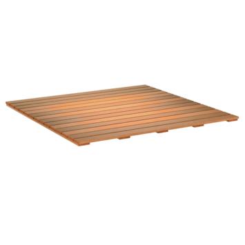 Terrastegel glad Hardhout ± 100x100 cm