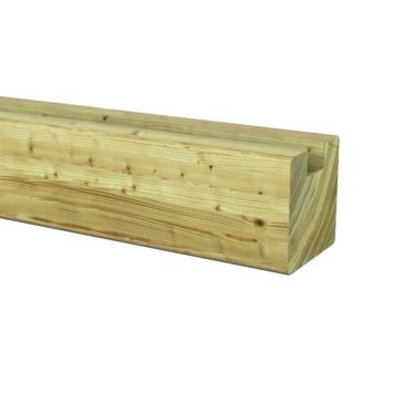 Sleufpaal eind geïmpregneerd ± 8,8x8,8 cm, lengte ± 270 cm