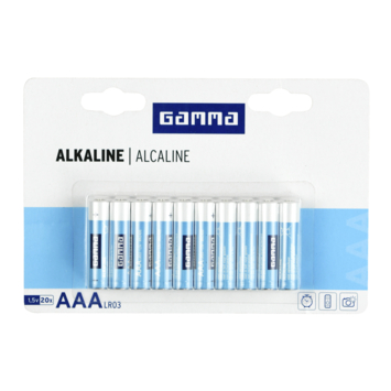 GAMMA alkalinebatterij AAA 20 stuks