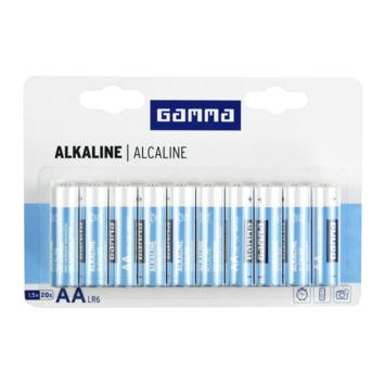 GAMMA alkalinebatterij AA 20 stuks