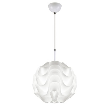 Suspension Carice diamètre 30 cm blanc