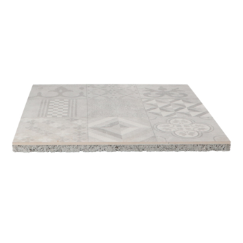 Keramische Terrastegel Kerastrada Cerajoy Mozaiek Grijs 60x60x3 cm
