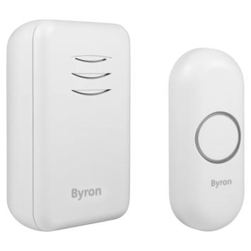 Byron draadloze deurbel op batterijen DBY-22311 bereik 150 m