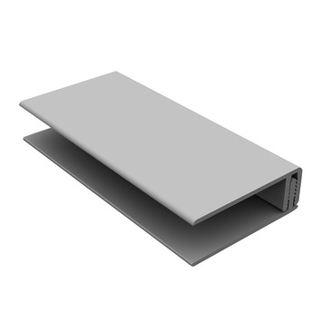 Clin de bardage Durasid profilé de bordure RAL7035 gris 250cm