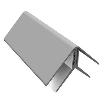 Clin de bardage Durasid angle intérieur-extérieur gris 250cm