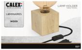 Lampe de table en bois Calex avec interrupteur