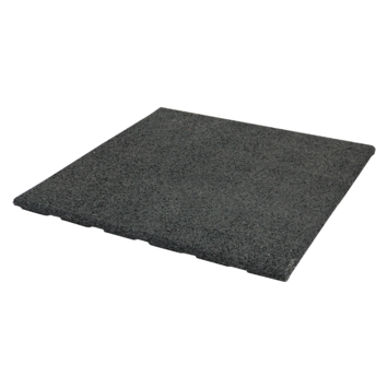 Rubbertegel zwart 40x40x2,5cm