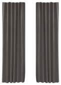 Rideau ruban fronceur translucide OK gris chaleureux 140x270 cm - 2 pièces