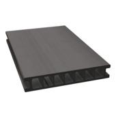 Planche en bois composite Duofuse ±2,8x16,2x300 cm wenge brown