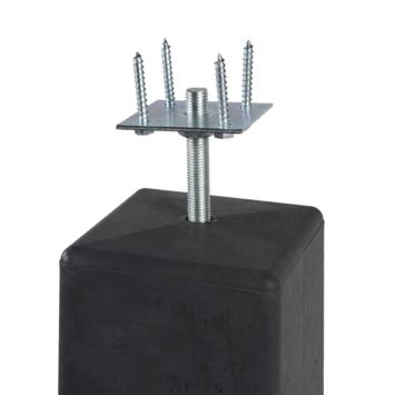 Betonsokkel met Plaat, taps 18x18/15x15 cm hoogte 50 cm