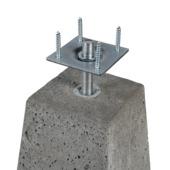 Socle béton avec plaque 24-15x40 cm gris