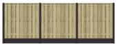 Pack de base clôture bois béton sapin ± 5,7 m sans angle