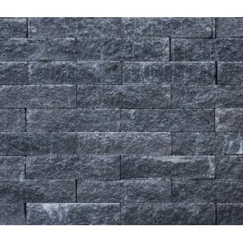 Stapelblok Beton Geknipt Grijs/Zwart 40x10x10 cm
