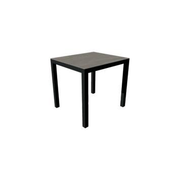 Tafel Uptown dark 700x800 mm met onderstel in zwart