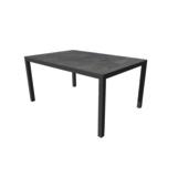 Table Titan anthracite 1500x1000 mm avec piétement anthracite
