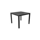 Table Titan anthracite 900x900 mm avec piétement anthracite