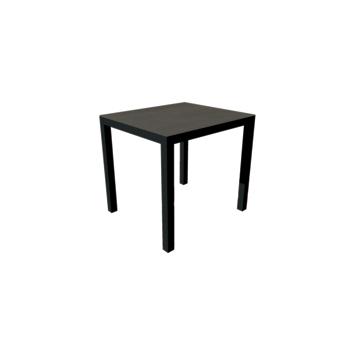 Tafel Luxury cement antraciet 700x800 mm met onderstel in zwart