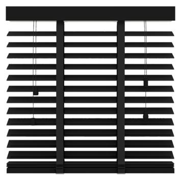 GAMMA horizontale jaloezie hout 50 mm 947 mat zwart 60x130