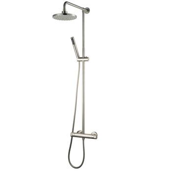 Ensemble de douche Kosmos avec douche à pluie ø20cm inox
