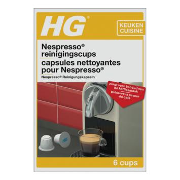 HG capsules nettoyantes pour machines Nespresso 6 pièces