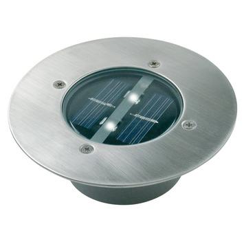 LS Ranex solar grondinbouwspot Carlo met 2 LEDlampen 0,06W rond ...