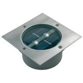 LS Ranex solar grondinbouwspot Carlo met 2 LEDlampen 0,06W vierkant