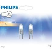 Philips halogeen steeklamp GY6,35 850 lumen 50W dimbaar 2 stuks