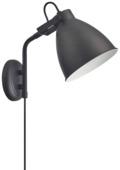 Wandlamp Fedde zwart E27 max. 40W