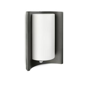 Applique extérieure avec détecteur de mouvement Meander Philips ampoule économique E27 20W 1320 lumens noir