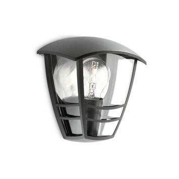 Applique extérieure Creek Philips exclusive ampoule E27 60W noir