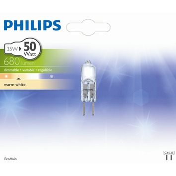 Capsule Philips Eco Halo GY6.35 635 Lm 35 W = 50 W