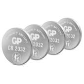 Pile bouton GP lithium CR2032 3 V 4 pièces