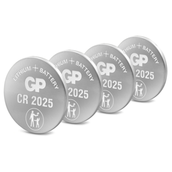 Pile bouton GP lithium CR2025 3 V 4 pièces