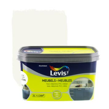 Levis opfrisverf meubels zijdeglans wit 2 L