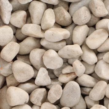 Decor cailloux carrara blanc 40-60mm 20 kg (palette)